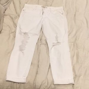 Joe's jeans white distressed boyfriend